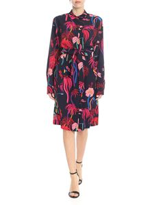 PS by Paul Smith - Urban Jungle printed dress in blue