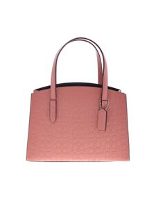 Coach - Shoulder bag in pink with embossed logo