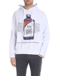 IH NOM UH NIT - White hoodie with multicolor bottle print