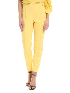 Elisabetta Franchi - Trousers in yellow with chain
