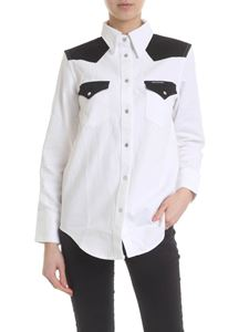 Calvin Klein Jeans - Shirt in white denim with black details