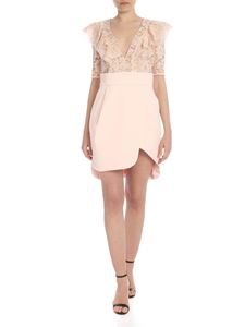 Elisabetta Franchi - Dress in powder pink with lace top