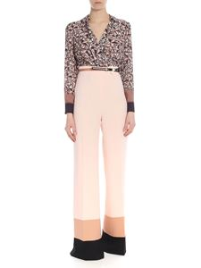 Elisabetta Franchi - Jumpsuit in pink and black with palazzo trousers