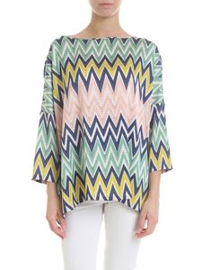 M Missoni - Chevron multicolor blouse
