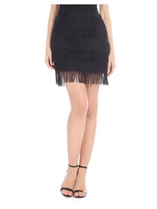 Alberta Ferretti - Mini skirt in black with fringes