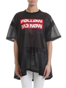 Red Valentino - Follow Me Now t-shirt in black