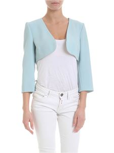 Patrizia Pepe - Shrug sweater in light blue with beads
