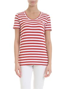 Michael Kors - Viscose t-shirt in red and white
