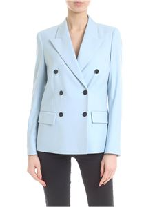 Calvin Klein - Double-breasted jacket in pastel light blue