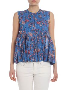 Isabel Marant Étoile - Top Erney in blue with flowers