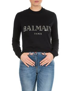 Balmain - Black sweatshirt with Balmain print