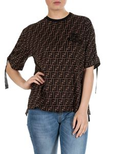 Fendi - FF motif T-shirt in brown