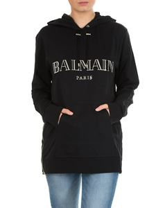Balmain - Black Balmain sweatshirt with side zips