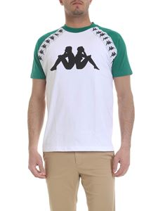 Kappa - T-shirt in white and green with logo