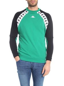 Kappa - Sweatshirt in green and black with branded bands