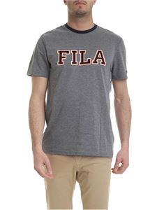 Fila - T-shirt in gray with Fila logo print