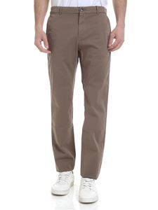 Calvin Klein - Stretch cotton trousers in brown