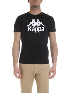 Kappa - T-shirt in black with Kappa print