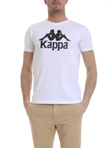 Kappa - T-shirt in white with Kappa print
