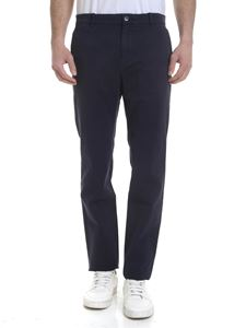 Calvin Klein - Stretch cotton trousers in blue
