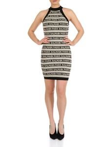 Balmain - Balmain striped crew neck dress