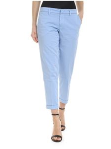 Fay - Trousers in light blue with blue stripes