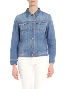 DON'T CRY - Demin jacket in light blue with pockets