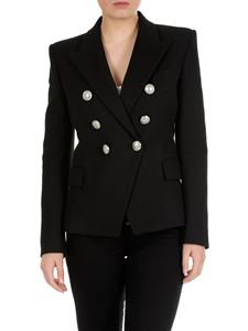 Balmain - Black double-breasted jacket with Balmain buttons