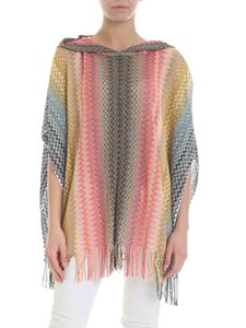 Missoni - Multicolor lamè poncho with hood