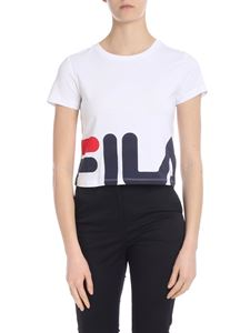 Fila - Crop T-shirt in white with logo print