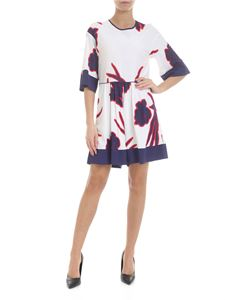 Pinko - Affrettato jumpsuit in white with blue and red print