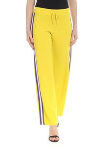 Parosh - Wide yellow trousers with purple insert