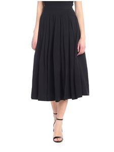 Aspesi - Black pleated midi skirt
