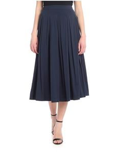 Aspesi - Blue pleated midi skirt