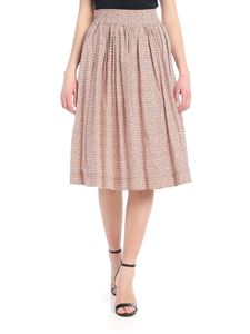 Woolrich - Peach printed cotton skirt