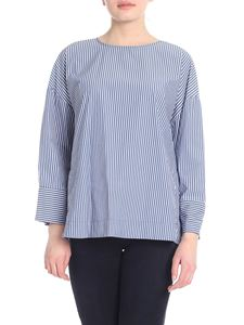 Woolrich - Spring blouse with blue and white stripes