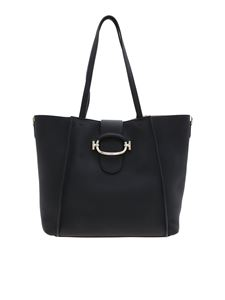 Tod's - Black leather Double T shoulder bag