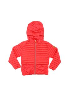 Save the duck - Glossy red down jacket