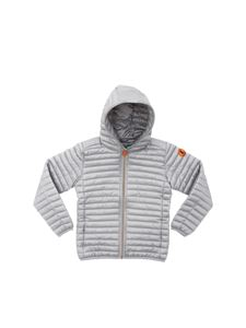 Save the duck - Grey hooded down jacket