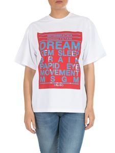 MSGM - Dream Rem Sleep printed t-shirt in white cotton