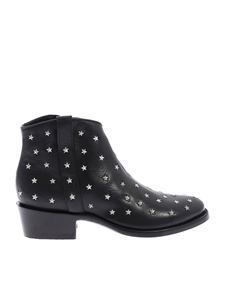 Mexicana - Etoile 3 texan boots in black with stars
