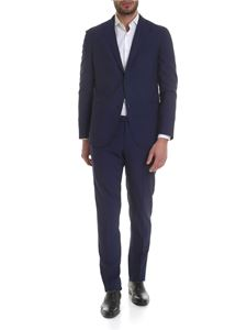 Boglioli - Blue single-breasted two buttons suit