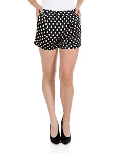Moschino - Black shorts with white polka dots print