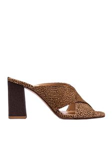 Borbonese - Classic Op printed sandals in beige and brown