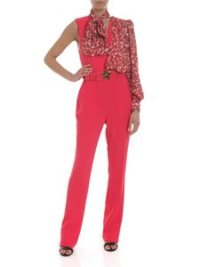 Elisabetta Franchi - Fuchsia jumpsuit with multicolor star insert
