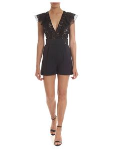 Elisabetta Franchi -  Black jumpsuit with lace top