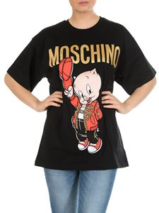 Moschino - Porky Pig Looney Tunes oversize T-shirt in black