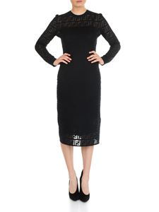Fendi - Dress in black FF cotton