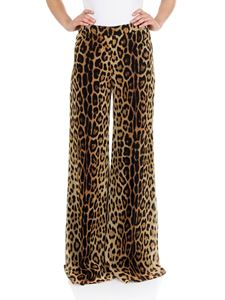 Moschino - Animal printed wide leg trousers