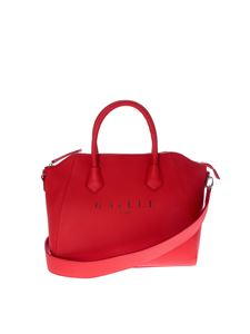 Gaelle Paris - Black handbag in red with Gaelle Paris logo